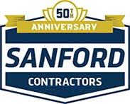 Sanford Contractors 50th Anniversary Logo
